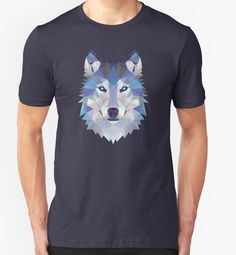 Game Of Thrones Polygonal Dire Wolf   RedBubble Unisex Dark Blue TShirt   All Sizes Available for Men and Women @redbubble