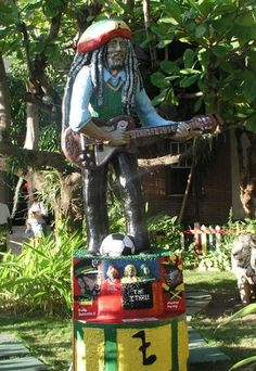 Outside the Bob Marley museum in Kingston...
