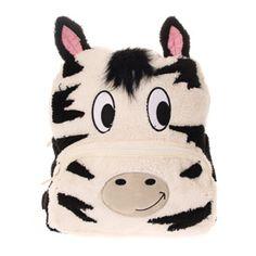 Plush Zebra Backpack