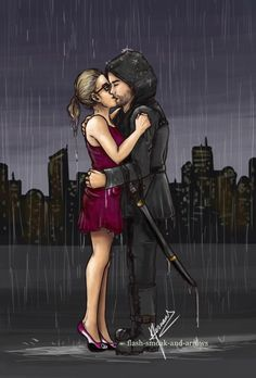 Olicity kissing in the rain I would love to see something like this in season This is so beautiful… ( notice the pink panda flats) Kissing in the rain Just imagine Oliver in. Arrow Oliver And Felicity, Felicity Smoak, The Flash, Arrow Flash, Green Lantern Green Arrow, Dc Comics, Avatar Zuko, Arrow Tv Series, Stephen Amell Arrow