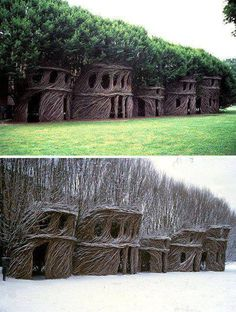 Natural Architecture: Home-Grown Artistic Tree Houses - www. Natural Architecture: H Earthship, Artistic Tree, Natural Architecture, Architecture Design, Green Architecture, Building Architecture, Concept Architecture, Sustainable Architecture, Landscape Architecture