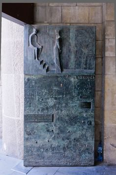 Door in Sagrada Familia, Barcelona, Spain *
