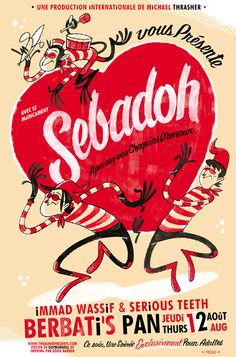 Sebadoh concert poster by Guy Burwell