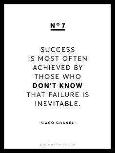 Fashion Quotes : Picture DescriptionKnown for her chic and empowering words of wisdom, we're sharing 13 rare Coco Chanel quotes because after all, she is the queen of fashion. Motivational Quotes For Women, Great Quotes, Quotes To Live By, Positive Quotes, Me Quotes, Inspirational Quotes, Simply Quotes, Chanel Frases, Coco Chanel Quotes