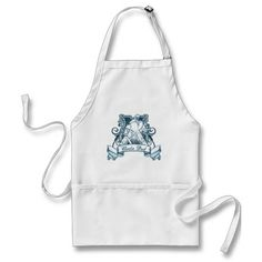 """Hockey Goalie Dad Apron.This design is available on a wide range of goods for the home! Check out the """"Hockey"""" department in my store: http://www.zazzle.com/gamefacegear*/ #HockeyApron #HockeyGifts"""