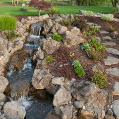 Paths and water feature http://www.paradiserestored.com/portfolio/olsen-property/
