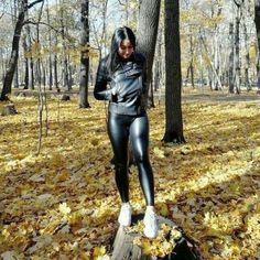 Boots And Leggings, Shiny Leggings, Tight Leggings, Black Leggings, Leather Pants Outfit, Tights Outfit, Black Milk Clothing, Sexy Outfits, Lederhosen Outfit