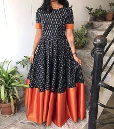 Saree Gown, Frock Dress, Anarkali Dress, Anarkali Suits, Half Saree Designs, Saree Blouse Designs, Kurtha Designs, Long Dress Design, Frocks And Gowns