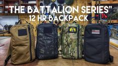 The Battalion Collection 12 HR Backpacks are designed and handmade by a real firefighter