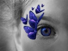 blue butterfly kisses