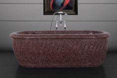 Tivoli white marble bath tubs from our brass Tivoli range. Marble Carving, Marble Bath, Bath Tubs, White Marble, Chocolate, Baths, Soaking Tubs, Schokolade, Chocolates