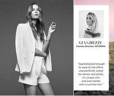"""Trendsetter Top Picks: """"Sophisticated enough to wear to the office, and perfectly suited for dinner & drinks. It's simply chic and even better with a summer tan."""" - Gia Ghezzi"""