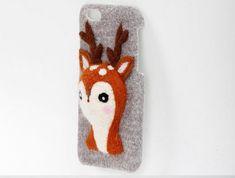 Needle Felted Animal Phone Cases Needle felt Sika от ElvesInGlass