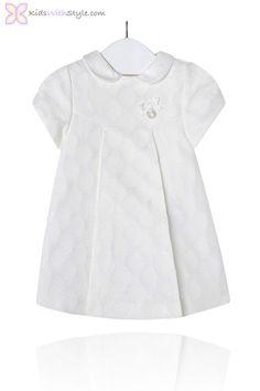 Baby Girl White Polka Dot Dress $40.50 www.kidswithstyle.com