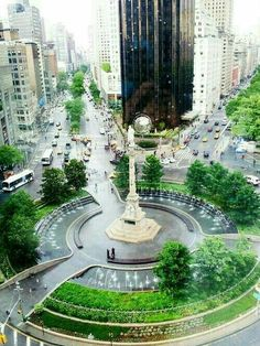 Columbus Circle- right outside Central Park South West side