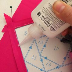 Quick Tips: Glue Basting perfect points, curves, and applique - Diary of a Quilter - a quilt blog