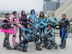 OH YEAH! Halo Spartan girls. Comic con 2013