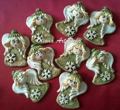 Christmas Clay, Christmas Angels, Christmas Ornaments, Xmas Crafts, Diy And Crafts, Arts And Crafts, Pasta Fimo, Clay Angel, Salt Dough Ornaments