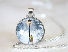 Narnia, The Lion The Witch and The Wardrobe, Lucy and Lamp-Post Necklace on Etsy, $13.31 AUD
