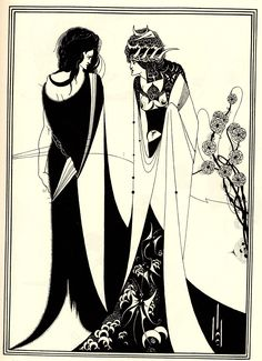 An poster sized print, approx (other products available) - John and Salome. An illustration from & by Oscar Wilde, Aubrey Beardsley - Image supplied by Mary Evans Prints Online - Poster printed in the USA Oscar Wilde, Illustrations Techniques, Illustration Art Nouveau, Victorian Illustration, Japanese Woodcut, Painting Prints, Art Prints, Paintings, Aubrey Beardsley