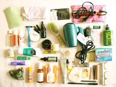 Toiletries packing list Southeast Asia