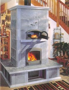 Tulikivi Fireplace- Soapstone with baking oven