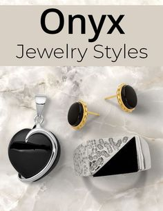 Onyx's alluring beauty is said to transform negative energy in times of stress, confusion, or grief. The gemstone of choice for 2021. #QualityGold #jewelry #OnyxJewelry #Onyx #gemstone #OnyxGemstone #PowerofOnyx Birthstone Jewelry, Gemstone Jewelry, Crazy Colour, Black Jewelry, Confusion, Grief, Peridot, Birthstones, Cufflinks