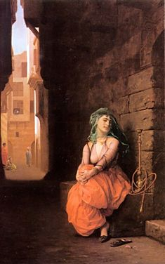 Arab Girl with Waterpipe - Jean Leon Gerome