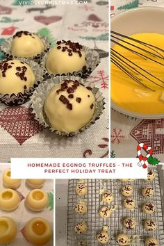 Don't miss out on making these eggnog truffles and treating yourself with a big batch of these delicious truffles! They are also perfect as a Christmas or hostess gift! #Christmascandy #trufflerecipe #eggnog #Christmastruffle #Christmaschocolate #whitechocolate #eggnogtruffle Chocolate Texture, Chocolate Drip, Chocolate Coating, Melting Chocolate, Healthy Holiday Recipes, Delicious Cookie Recipes, Yummy Cookies, Dessert Recipes, Desserts