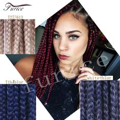 New And Popular 3x Box Braids Crochet Hair Synthetic Braiding Hair Style Extensions With Free Gift For Beautiful Customer