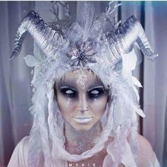 Halloween makeup ideas The ice witch