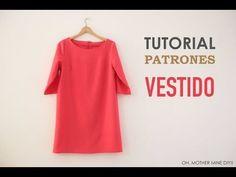 DIY Patrones y tutorial: vestido rojo básico | Manualidades                                                                                                                                                                                 Más