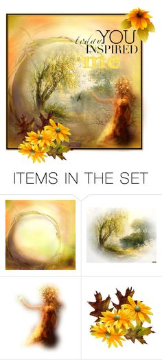 """""""Today you inspired me!"""" by callmerose ❤ liked on Polyvore featuring art"""