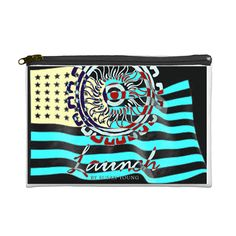 """launch cosmetic case in """"Launch Patriot printway availabe at the $40 pledge 6""""x9"""""""