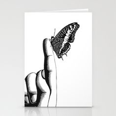 BLACK & WHITE Stationery Cards by Luminarium Graphics - $12.00