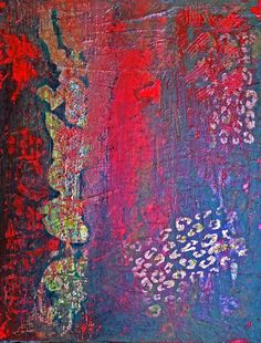 Blue and Red Mood - Galsery Prints