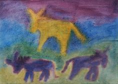 Waldorf ~ 4th grade ~ Human & Animal ~ Donkey ~ watercolor painting