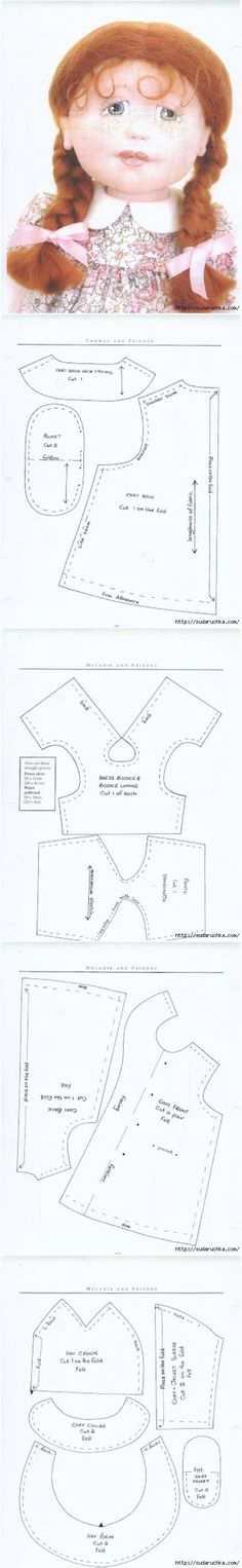 Sewing textile doll.  Book.  Making dolls Textile, clothing and footwear.  Part 2.