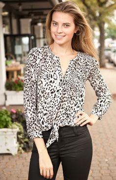 Joie Watson Tie Front Blouse   Silkworm Boutique