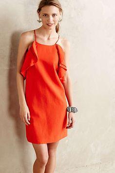 Fluttered Scarlet Dress - would look good on Julie
