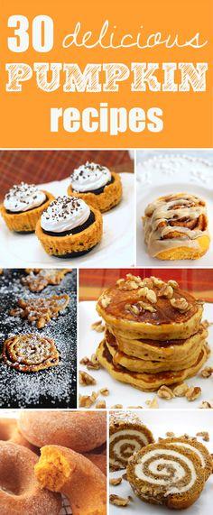 30 Delicious Pumpkin Recipes - Pretty My Party #fall #pumpkin #recipes