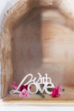 With Love Message Sign  - Rivièra Maison - Summer Collection - Decoratie / Decoration