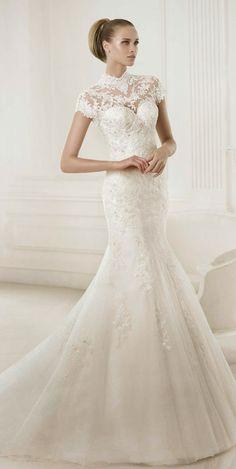 Lovely lace ~ Pronovias 2015 Bridal Collection   bellethemagazine.com