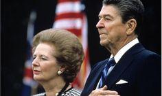 Margaret Thatcher and Ronald Wilson Reagan