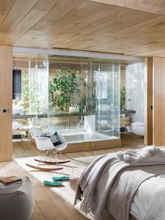 Spectacular loft in Spain reformed and designed by Estudio Egue y Seta. Indoor garden and wood are the protagonists of this bright and airy property design