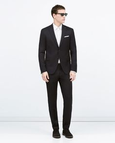 NAVY MICRO-CHECK WEAVE SUIT