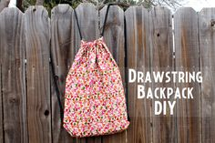 punk projects: Drawstring Backpack DIY