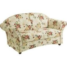 2 Sitzer Sofa Floral Beige Rot Roller In 2020 Sofa Sprung Sofa Living Room Accents