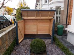 Standard Gallery from The Bike Shed Company Bin Shed, Outdoor Bike Storage, Craft Shed, Front Gardens, Diy Shed Plans, Shed Roof, Outdoor Spaces, Outdoor Decor, Bike Store