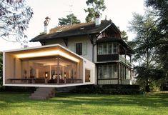 Extension contemporaine d'une villa ancienne